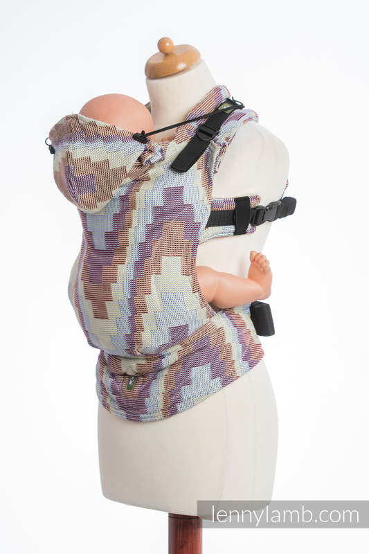 Ergonomic Carrier, Toddler Size, crackle weave 100% cotton - wrap conversion from TRIO  - Second Generation #babywearing