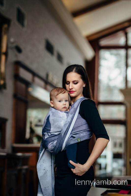 Baby Wrap, Jacquard Weave (100% cotton) - MOONLIGHT WOLF - size M #babywearing
