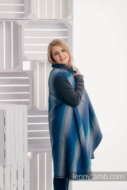 Long Cardigan - plus size - Little Herringbone Illusion