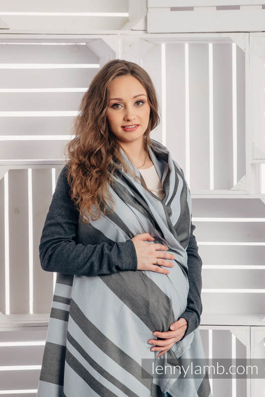 Long Cardigan - plus size - Moon Rock #babywearing