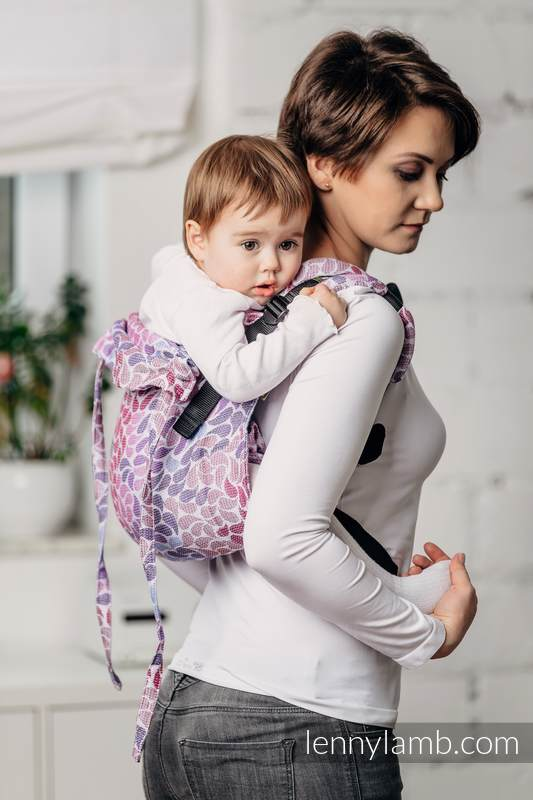 Lenny Buckle Onbuhimo, toddler size, jacquard weave (100% cotton) - Wrap conversion from COLORS OF FANTASY #babywearing