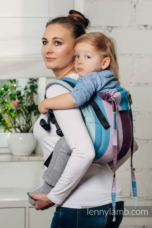 Lenny Buckle Onbuhimo, toddler size, diamond weave (100% cotton) - Wrap conversion from ICELANDIC DIAMOND #babywearing