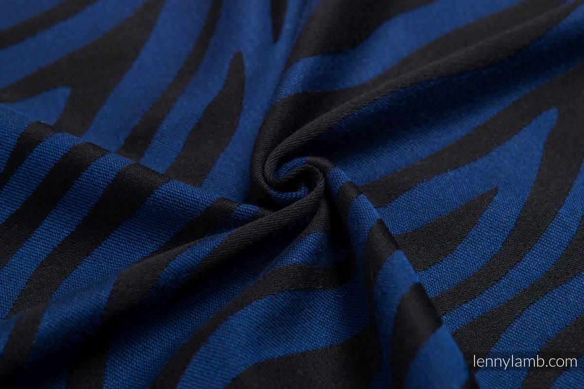 Baby Wrap, Jacquard Weave (100% cotton) - ZEBRA BLACK & NAVY BLUE  - size XL #babywearing