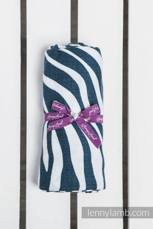 Swaddle Wrap - ZEBRA NAVY BLUE & WHITE #babywearing