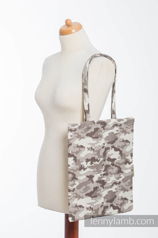 Shopping bag made of wrap fabric (100% cotton) - BEIGE CAMO  #babywearing
