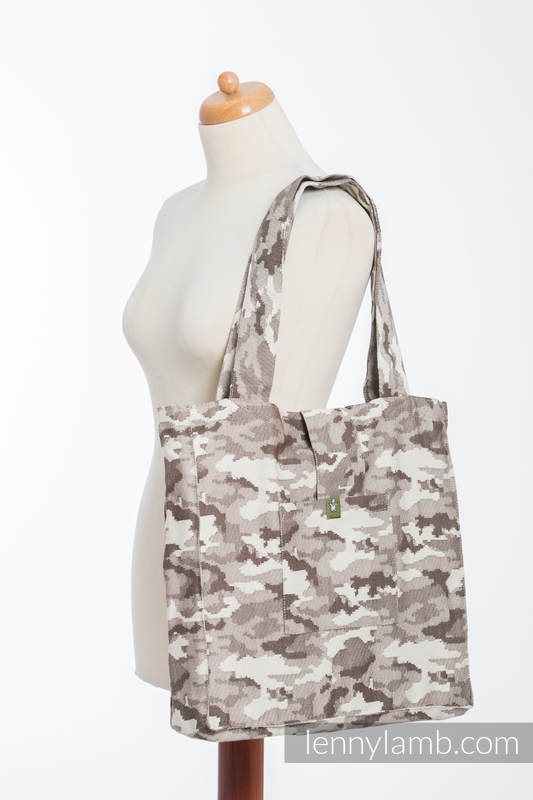 Shoulder bag made of wrap fabric (100% cotton) - BEIGE CAMO - standard size 37cmx37cm #babywearing