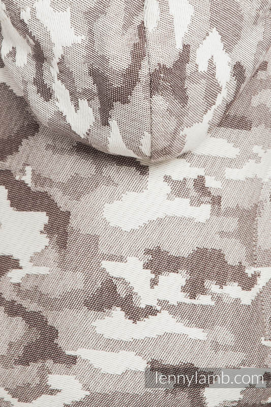 Ergonomic Carrier, Toddler Size, jacquard weave 100% cotton - wrap conversion from BEIGE CAMO - Second Generation #babywearing