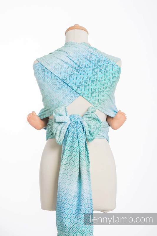 WRAP-TAI carrier Toddler with hood/ jacquard twill / 100% cotton / BIG LOVE - ICE MINT  #babywearing