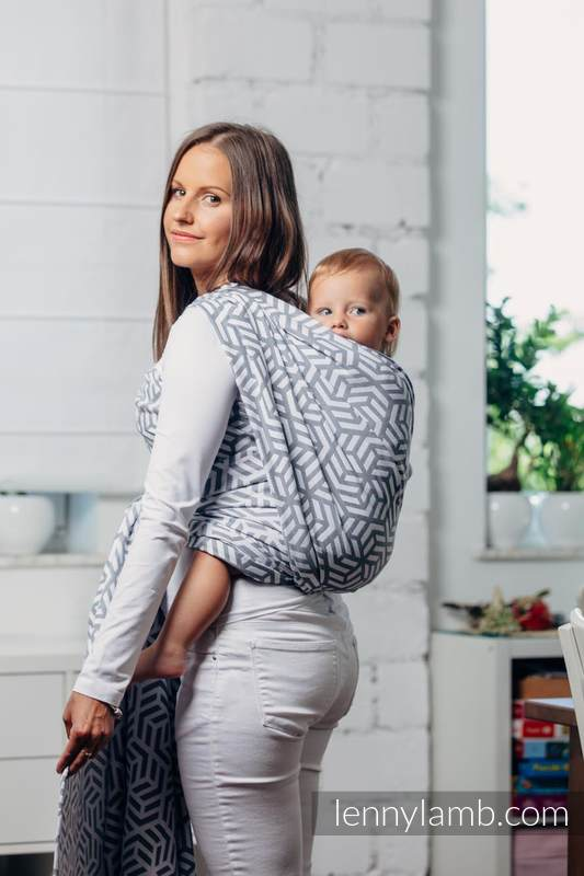 Basic Line Baby Sling - PEARL, Jacquard Weave, 100% cotton, size S #babywearing