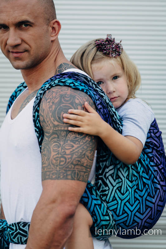 Baby Wrap, Jacquard Weave (100% cotton) - TRINITY COSMOS - size S #babywearing