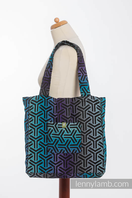 Shoulder bag made of wrap fabric (100% cotton) - TRINITY COSMOS - standard size 37cmx37cm #babywearing