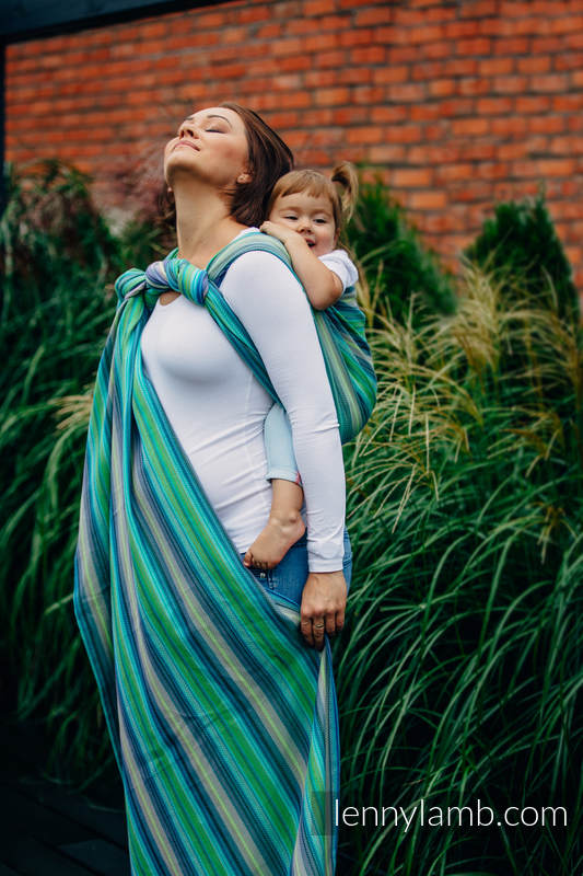 Baby Wrap, Herringbone Weave (100% cotton) - LITTLE HERRINGBONE AMAZONIA - size S #babywearing