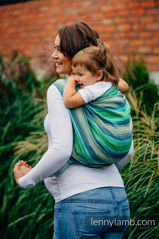 Baby Wrap, Herringbone Weave (100% cotton) - LITTLE HERRINGBONE AMAZONIA - size M #babywearing