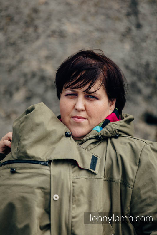 Parka Babywearing Coat - size 5XL -  Khaki & Customized Finishing #babywearing