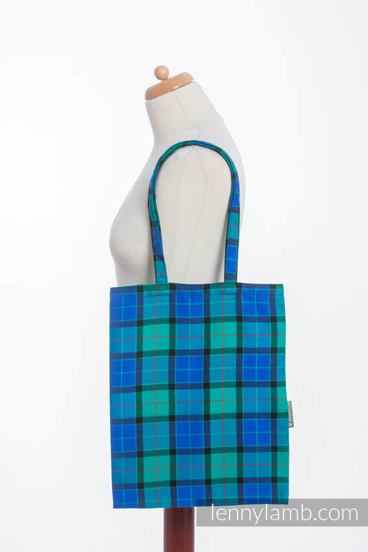 Shopping bag made of wrap fabric (100% cotton) - COUNTRYSIDE PLAID #babywearing