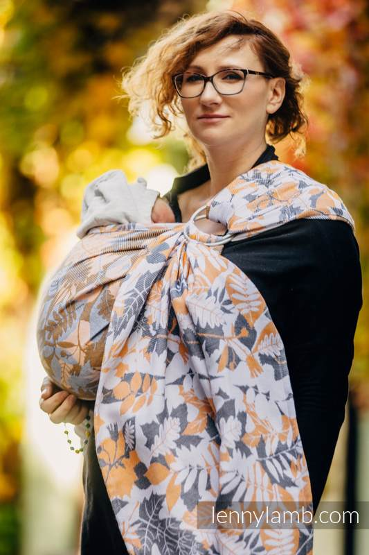 Ringsling, Jacquard Weave (100% cotton) - WHIFF OF AUTUMN #babywearing