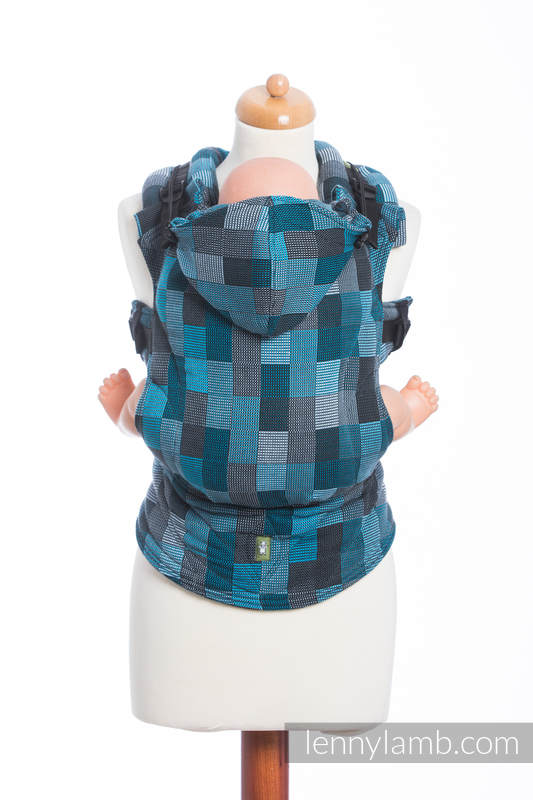 Ergonomic Carrier, Toddler Size, crackle weave 100% cotton - wrap conversion from QUARTET RAINY - Second Generation #babywearing
