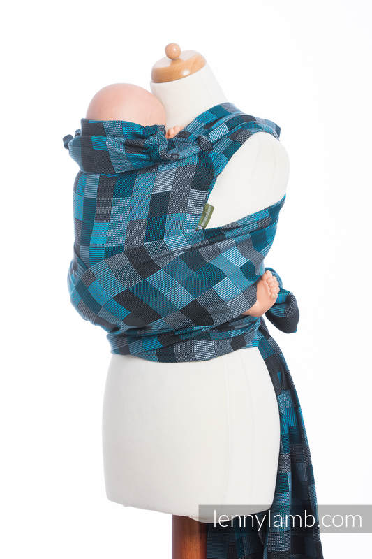 WRAP-TAI carrier Mini with hood/ crackle twill / 100% cotton / QUARTET RAINY   #babywearing