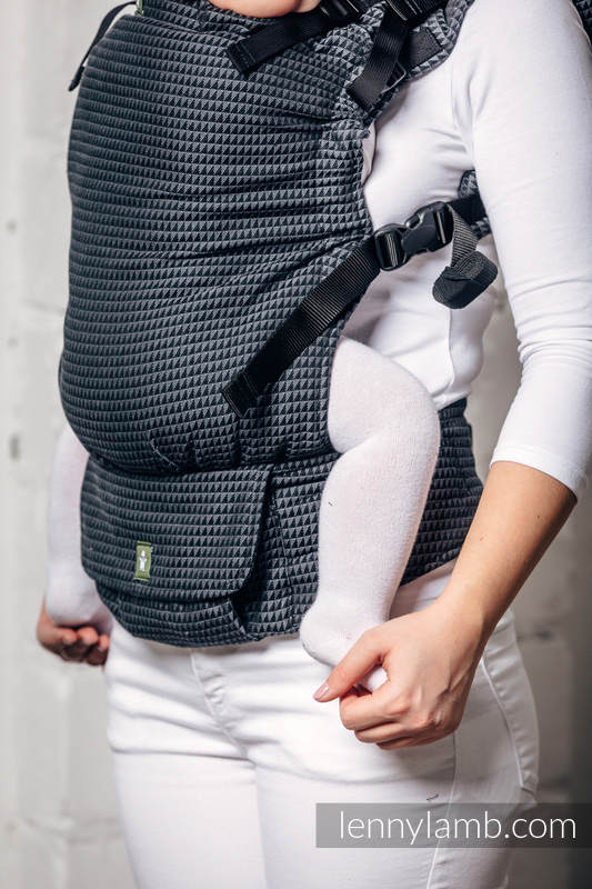 LennyUp Carrier, Standard Size, tessera weave 100% cotton - wrap conversion from BASIC LINE GALAXITE #babywearing
