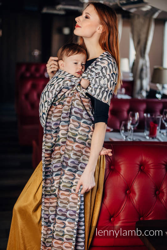Ringsling, Jacquard Weave (33% combed cotton, 55% Merino wool, 5% mulberry silk, 7% cashmere) - EQUILIBRIUM #babywearing