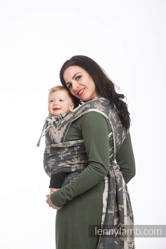 WRAP-TAI carrier Toddler with hood/ jacquard twill / 100% cotton / HERBARIUM #babywearing