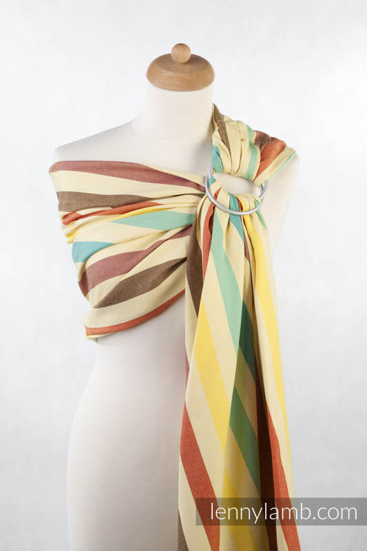 Ring Sling - 100% Cotton - Broken Twill Weave, with gathered shoulder - Sunny Smile (grade B)