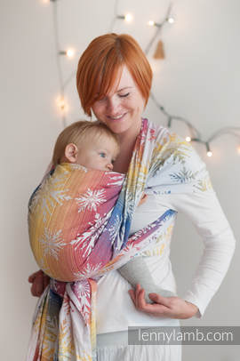 Baby Wrap, Jacquard Weave (100% cotton) - Winter Dream - size S