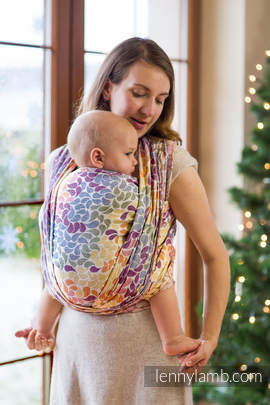 Baby Wrap, Jacquard Weave (100% cotton) - COLORS OF LIFE, size S