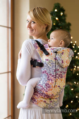 Ergonomic Carrier, Toddler Size, jacquard weave 100% cotton - wrap conversion from COLORS OF LIFE - Second Generation (grade B)