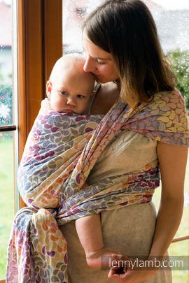 Baby Wrap, Jacquard Weave (100% cotton) - COLORS OF LIFE - size XL