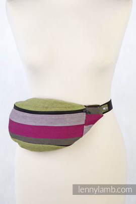 Waist Bag made of woven fabric, (100% cotton) - LIME & KHAKI