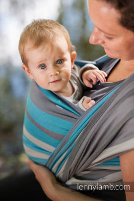 Baby Sling, Broken Twill Weave, 100% cotton,  Misty Morning - size L (grade B)