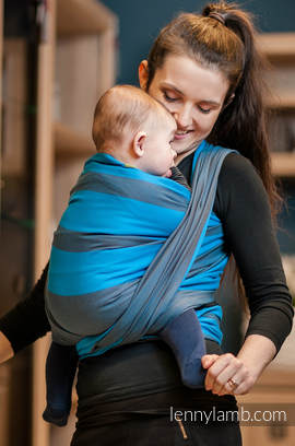 Baby Sling, Broken Twill Weave (100% Cotton) - OCEAN DEPTH - size XL