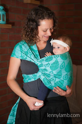 Baby Wrap, Jacquard Weave (100% cotton) - NORTHERN LEAVES - size L (grade B)
