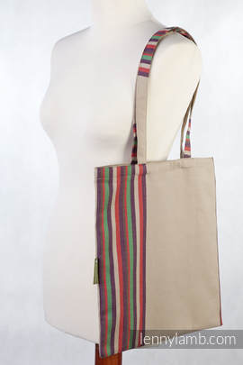 Shopping bag made of wrap fabric (100% cotton) - SAND VALLEY