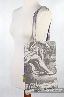 Shopping bag made of wrap fabric (100% cotton) - POSEIDON - standard size 33cmx39cm