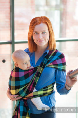 Baby Sling, Diamond Weave, 100% cotton - DIAMOND PLAID - size S