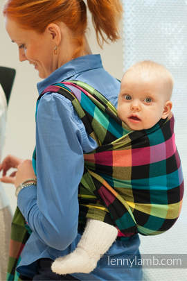Baby Sling, Diamond Weave, 100% cotton - DIAMOND PLAID - size S (grade B)