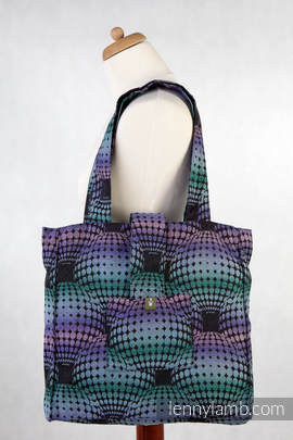 Shoulder bag made of wrap fabric (100% cotton) - DISCO BALLS - standard size 37cmx37cm