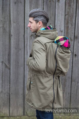 Parka Babywearing Coat - size 6XL -  Khaki & Customized Finishing