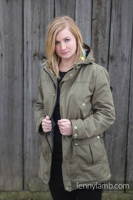 Parka Coat - size XXL - Khaki & Customized Finishing