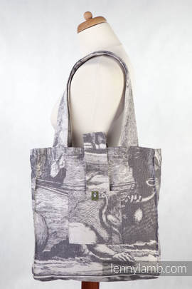 Shoulder bag made of wrap fabric (100% cotton) - POSEIDON - standard size 37cmx37cm