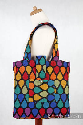 Shoulder bag made of wrap fabric (100% cotton) - JOYFUL TIME - standard size 37cmx37cm