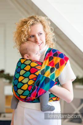Baby Wrap, Jacquard Weave (100% cotton) - JOYFUL TIME - size S