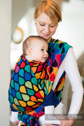 Baby Wrap, Jacquard Weave (100% cotton) - JOYFUL TIME - size S (grade B)