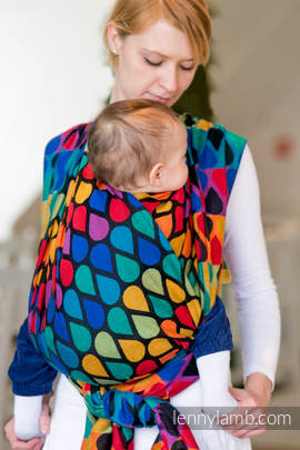 Baby Wrap, Jacquard Weave (100% cotton) - JOYFUL TIME - size M