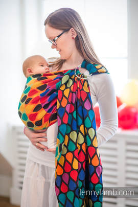 Ringsling, Jacquard Weave (100% cotton) - JOYFUL TIME