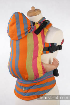 Ergonomic Carrier, Toddler Size, broken-twill weave 100% cotton - wrap conversion from ZUMBA ORANGE - Second Generation (grade B)