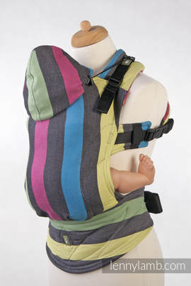Ergonomic Carrier, Baby Size, broken-twill weave 60% cotton 40% bamboo- wrap conversion from TWILIGHT - Second Generation