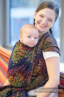Baby Wrap, Jacquard Weave (100% cotton) - COLORS OF MAGIC - size S (grade B)